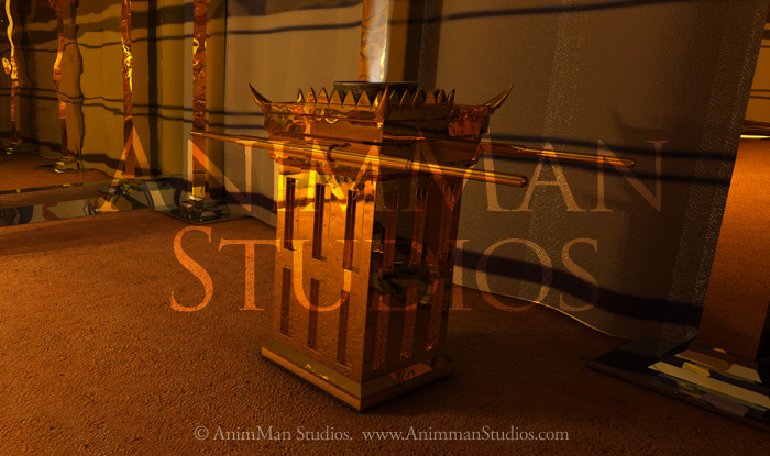 Altar of incense in the holyroom of the tabernacle