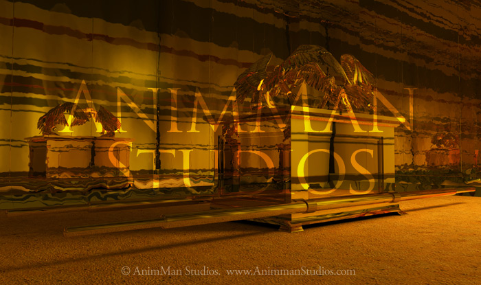 ark of the covenant in the holy of holies in the tabernacle