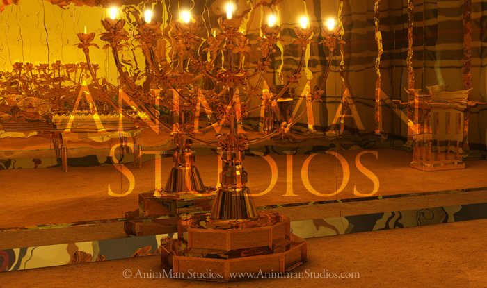 lampstand or candlestick in the holyroom of the tabernacle